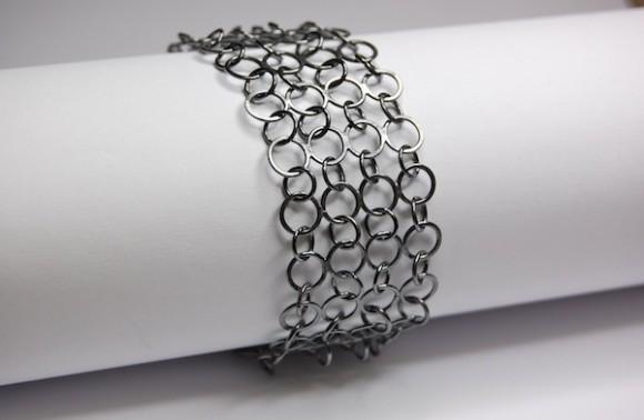 oxidised chainmail bracelet